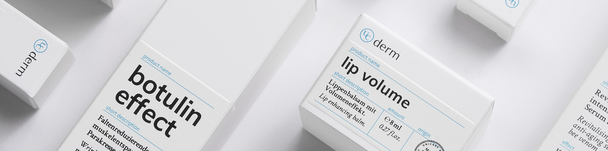 Cover picture of the UniCare product page UCderm lip volume, the nourishing lip balm to enlarge the lips