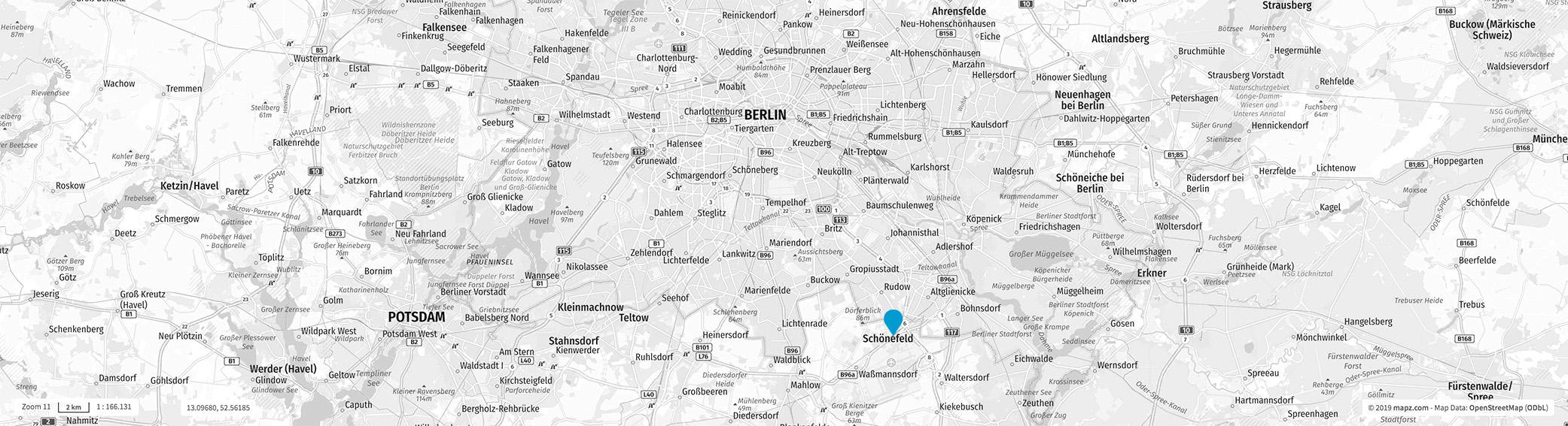 UniCare Standort Karte Map Mittelstraße 7 12529 Schönefeld bei Berlin
